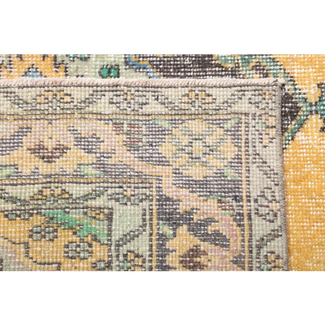 1960s 1960's Vintage Turkish Hand-Knotted Wide Long Runner-4′7″ × 12′10″ For Sale - Image 5 of 11