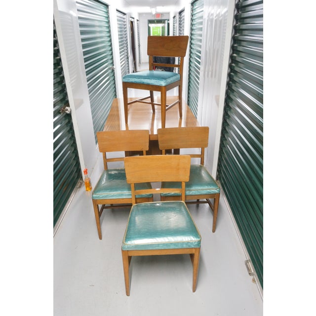 Textile 1950s Mid-Century Modern Morris of California Dining Set - 5 Pieces For Sale - Image 7 of 10