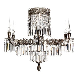 Swedish Style Chrome Bathroom Chandelier For Sale