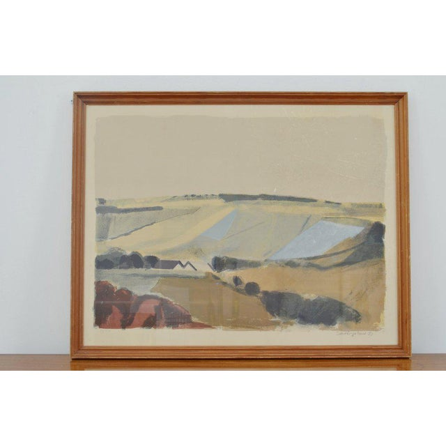 Mid-Century Modern Landscape by Svend Engelund, '57 For Sale - Image 3 of 4