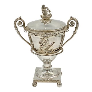 French Empire Sterling Compote, Circa 19th Century For Sale