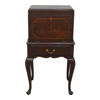 Late 20th Century Henkel Harris Solid Mahogany Cabinet For Sale