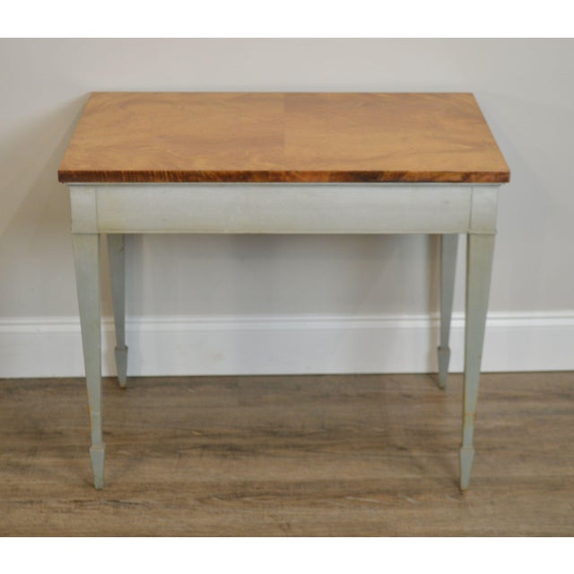 1940s Schmieg & Kotzian Adams Hand Painted One Drawer Side Table For Sale - Image 5 of 12