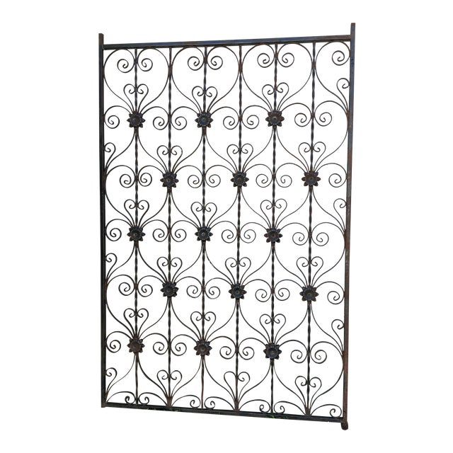Antique Wrought Iron Decorative Wall Divider - Image 1 of 8