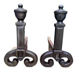 Image of Victorian Andirons and Chenets
