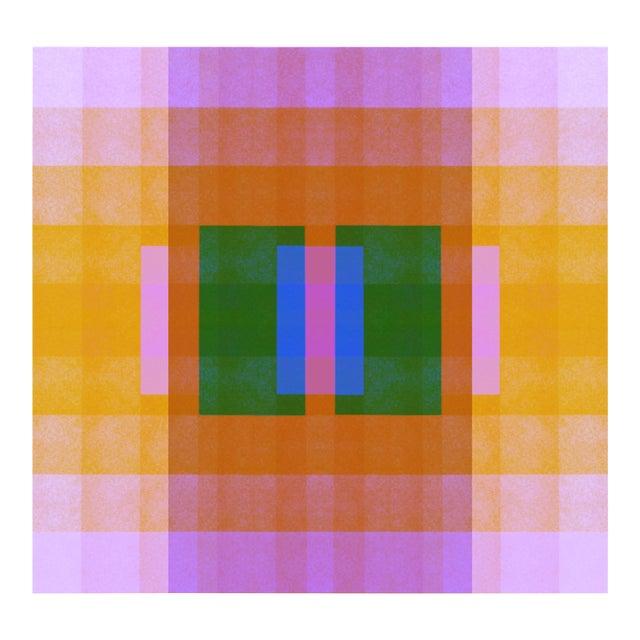 Color Space Series 33: Ultraviolet, Orange, Blue & Green For Sale