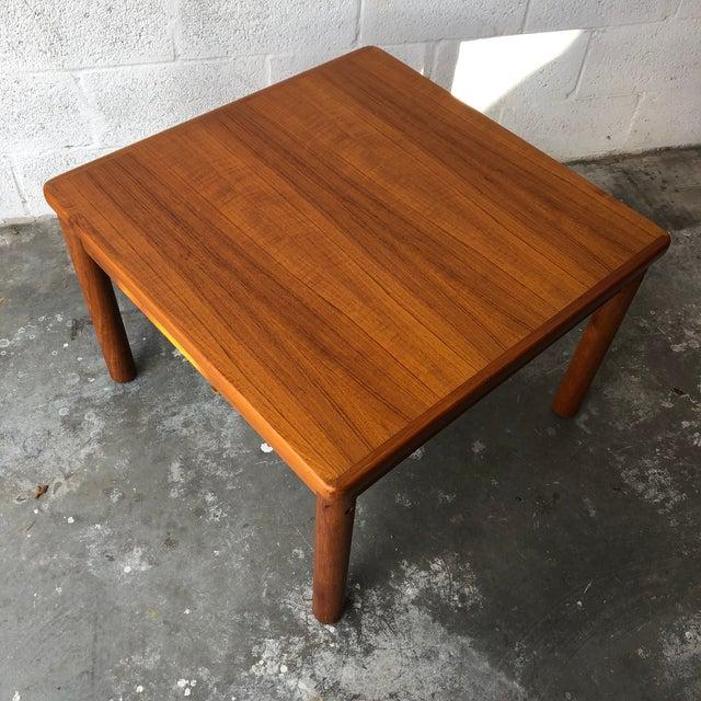 Vintage Mid Century Danish Modern Teak Side Table by Trioh Mobler Denmark For Sale - Image 11 of 11