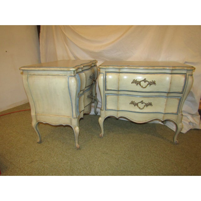 James Dixon & Sons Dixon Bombe Nightstands - A Pair For Sale - Image 4 of 6