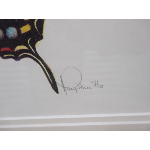 Mid-Century Modern Western Tiger Swallowtail Butterfly Watercolor by Mary Ann Ho For Sale - Image 3 of 8