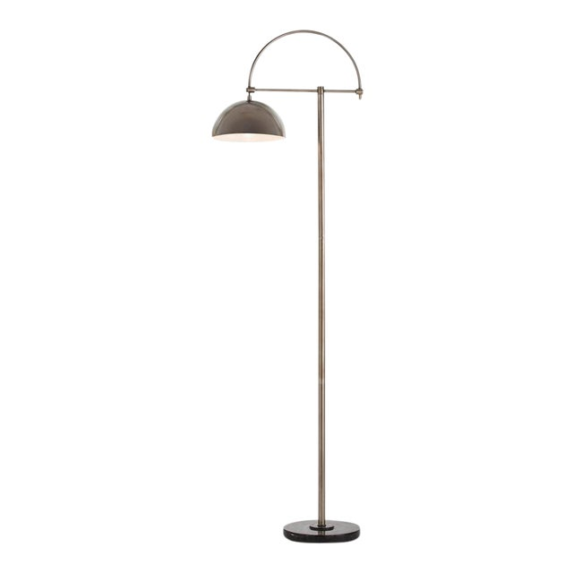 Arteriors Home Jillian Vintage Style Silver Floor Lamp For Sale