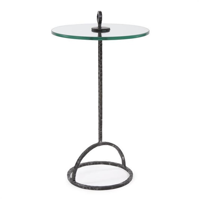 Cocktail anyone? From the hammered, galvanized iron base to the tempered glass top, the Memphis Table answers the...