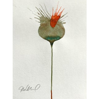 Volcano Botanical Watercolor Painting For Sale