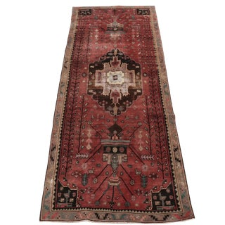 Vintage Hand-Knotted Northwest Persian Runner- 4′3″ × 12′ For Sale