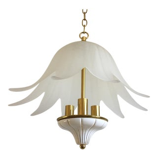 Italian Lotus Chandelier by Fabbian For Sale