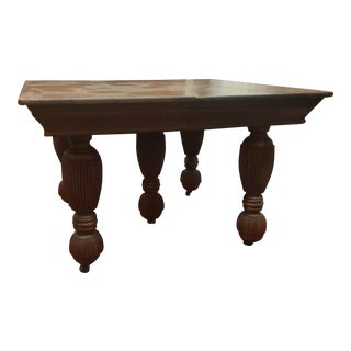 19th Century Jacobean Oak Expandable Dining Table For Sale