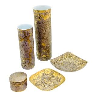 Rosenthal Studio Line Fine Ceramic Set Designed by H Dressler - 6 Pieces For Sale