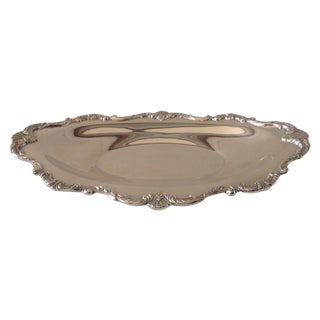 Wallace Silver Plate Open Bread, Serving Tray For Sale