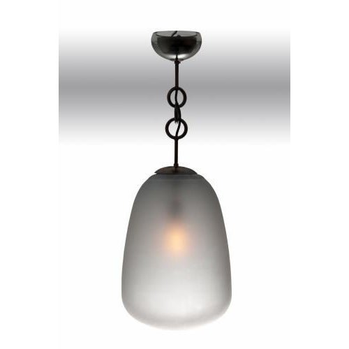 Contemporary The Matteo Lantern in Ash Finished Opaque Glass by Seguso for Studio Van den Akker For Sale - Image 3 of 3