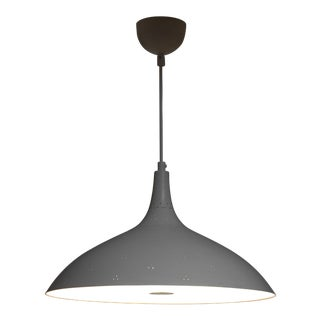 Paavo Tynell white A1965 pendant lamp, Idman, Finland For Sale