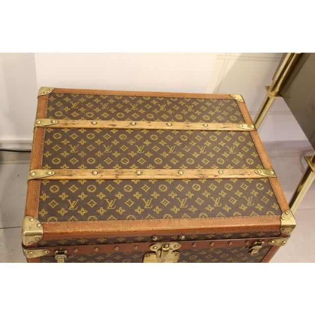 Brown Louis Vuitton Monogram Steamer Trunk For Sale - Image 8 of 12
