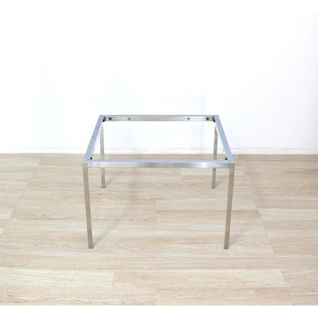 Knoll Solid Chrome Knoll Coffee Table Base For Sale - Image 4 of 7
