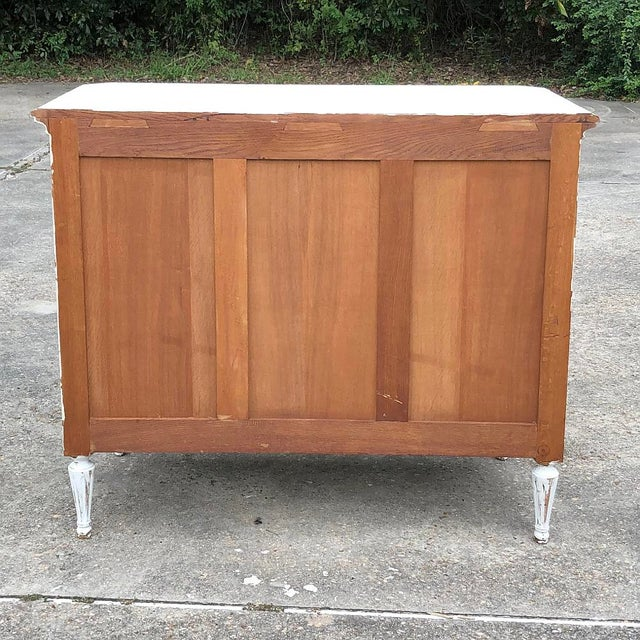 19th Century Country French Louis XVI Painted Commode For Sale - Image 11 of 12