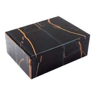 Falcon's Eye Semi-Precious Stone Box For Sale