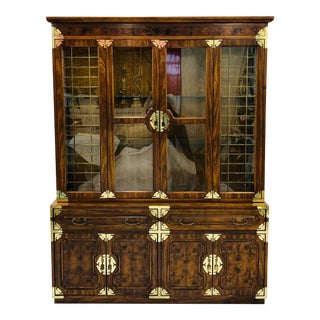 Vintage Mid Century China Cabinet Hutch For Sale