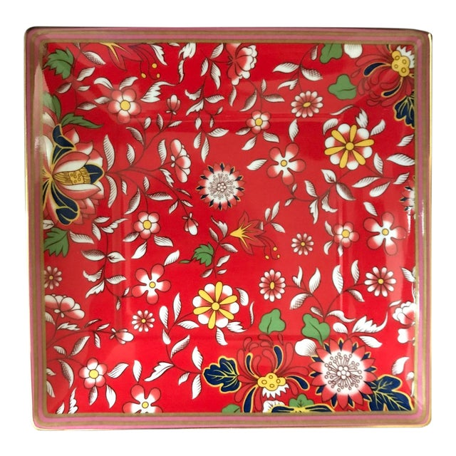 Wedgwood Wanderlust Crimson Jewel Tray For Sale