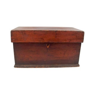 Antique Wooden Small Trunk Storage For Sale