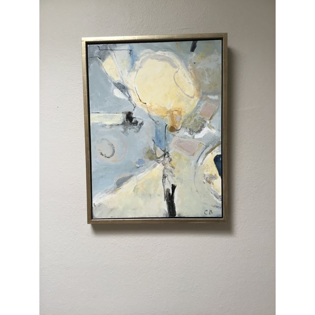 Abstract Painting in Grey, Blue, and Ivory - Image 8 of 8