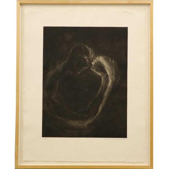 """1990s Susan Rothenberg, """"Mezzofist #2"""" Mezzotint Print For Sale"""