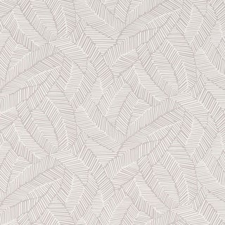 Sample - Schumacher Abstract Leaf Wallpaper in Dove For Sale