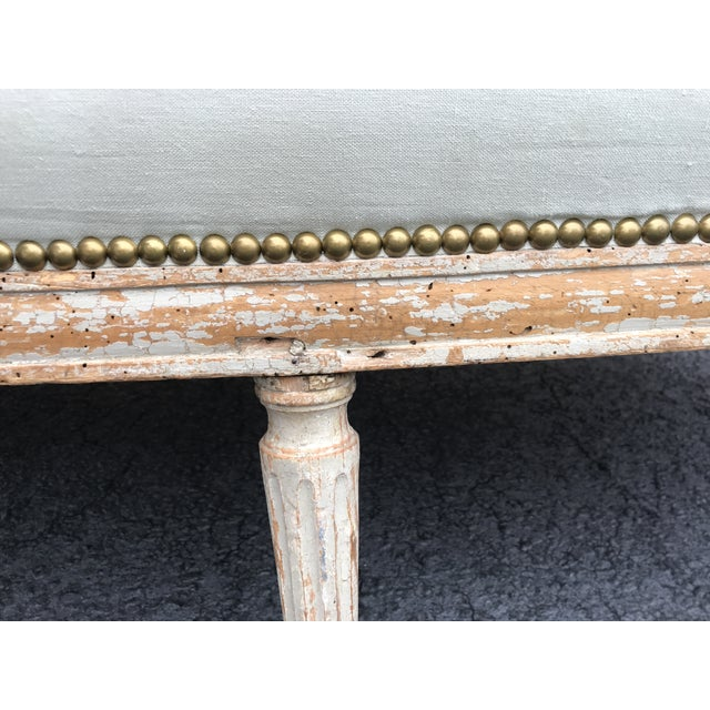 Wood 18th Century French Louis XVI Settee For Sale - Image 7 of 12