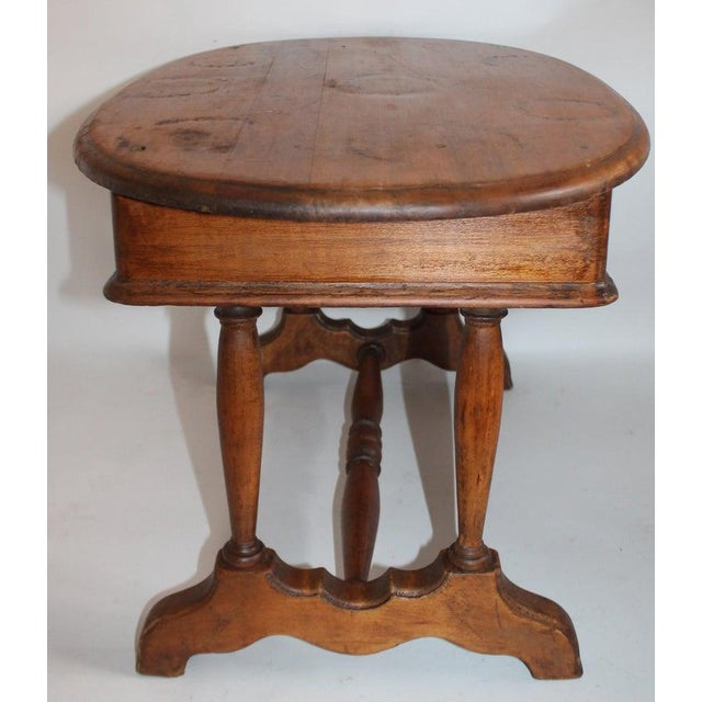 Wood 19th Century Pine Oval Coffee/Side Table For Sale - Image 7 of 9