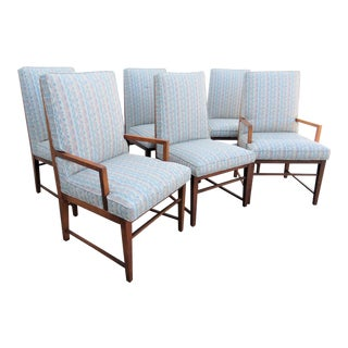 Mid Century Founders Walnut Dining Chairs - Set of 6 For Sale