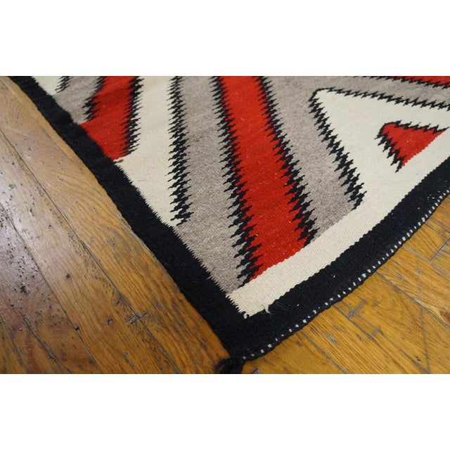 "Navajo rug made of 100% wool. Navajo rugs are durable and tough. Pile height 0.25""."