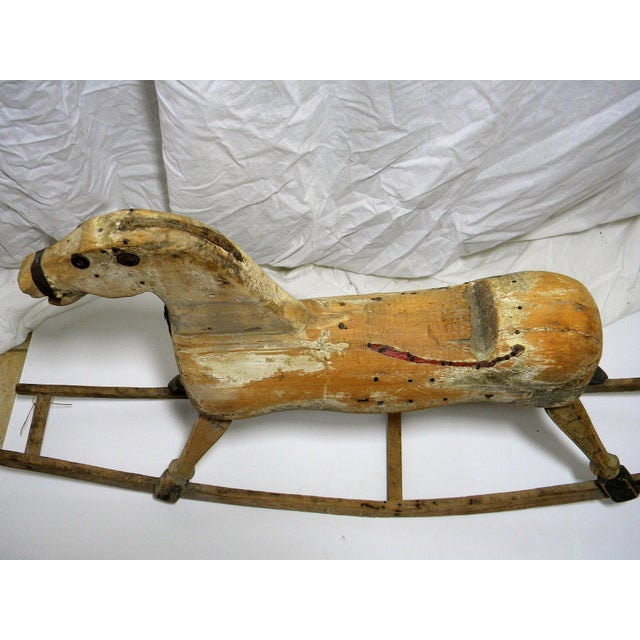 Primitive Antique Primitive Rocking Horse For Sale - Image 3 of 6