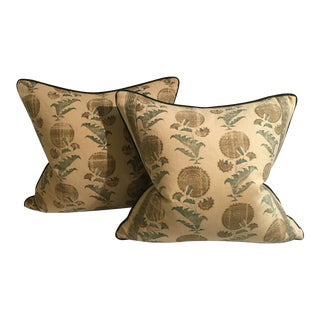 CB2 Boho Chic Gold Textile Pillows - a Pair