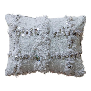 Moroccan Wedding Blanket Handira Pillow