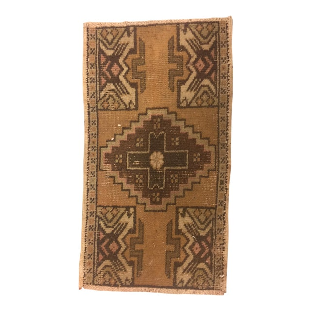 Turkish Anatolian Handwoven Rug - 1′5″ × 2′7″ For Sale