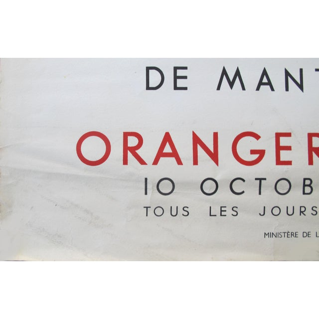 1950s 1954 French Exhibition Poster, Masterpieces From the Sao Paolo Museum of Art - Van Gogh For Sale - Image 5 of 8