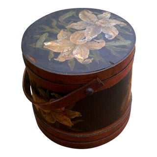 1990s English Painted Country Firkin For Sale