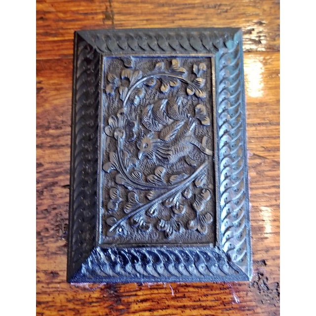 Late 19th Century Vintage Anglo Indian Ebony Calling Card Case For Sale - Image 9 of 9
