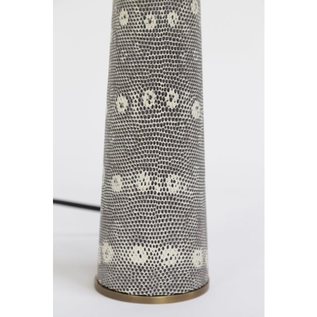 2000 - 2009 Lizard Skin & Bronze Borrego Lamp by Tuell + Reynolds For Sale - Image 5 of 7