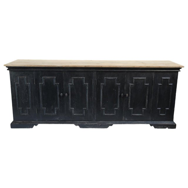Salvaged Black & Tan Sideboard For Sale In Los Angeles - Image 6 of 10
