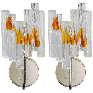 Geometric Sconces by Salviati - a Pair For Sale