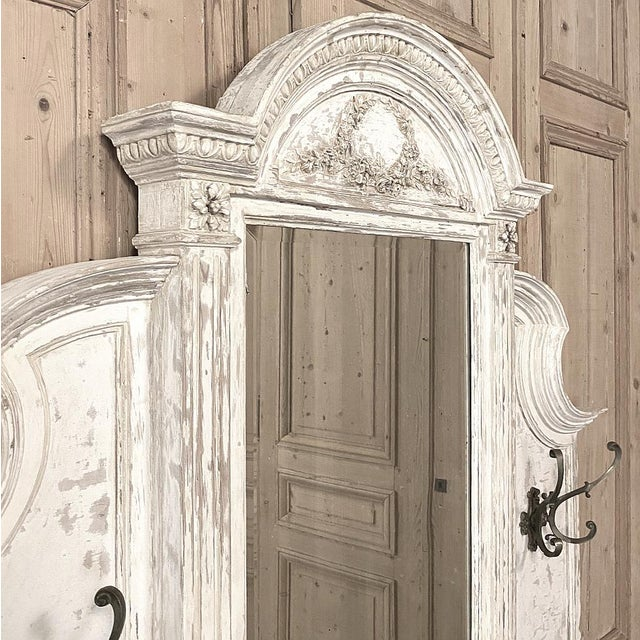 19th Century French Louis XVI Painted Hall Tree For Sale - Image 9 of 11