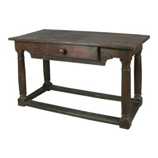 18th Century Antique Italian Walnut Table For Sale
