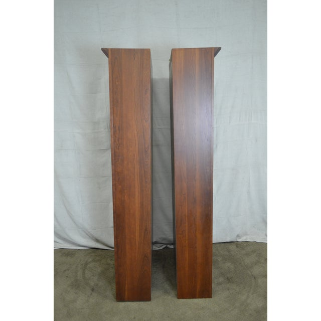 Ethan Allen Ethan Allen American Impressions Solid Cherry Open Bookcases - A Pair For Sale - Image 4 of 10